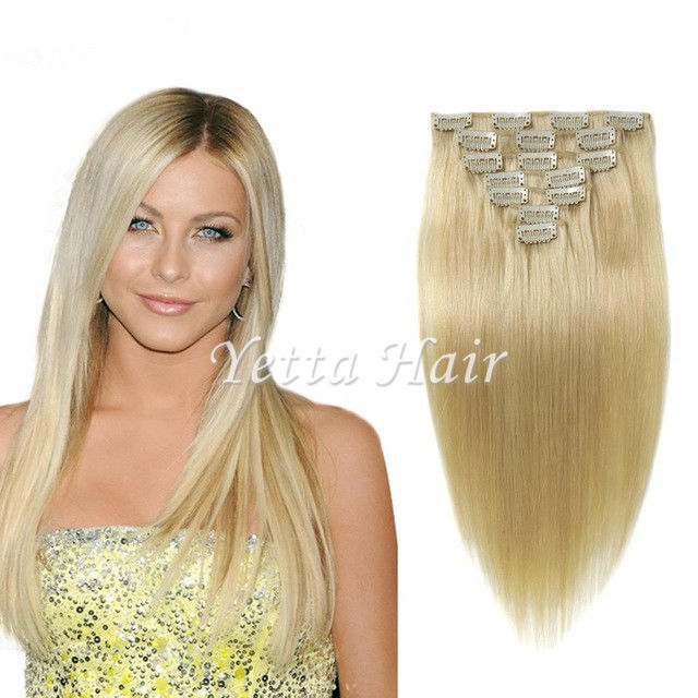 Brazilian Straight Clip In Pre Bonded Hair Extensions No Any Bad Smell
