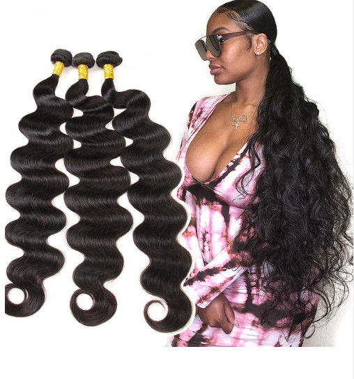 28 Inch 100% Peruvian Virgin Hair Body Wave Extensions 10A Grade
