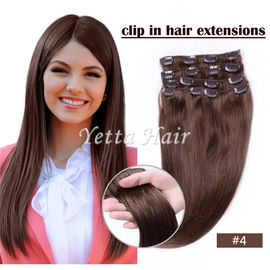 Chiny Brazylijski pre bonded remy human hair extensions / Clipped in Hair Extensions fabryka