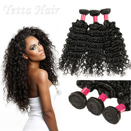 6A Peruwiański Virgin Curly Hair Extensions / Soft 100% Human Hair Wefts